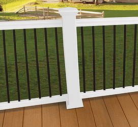 Composite Railing with Aluminum Balusters