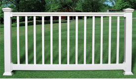 Vinyl Contoured Railing with Square Pickets