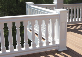 Master series vinyl railing systems accent building for Fypon balustrade systems