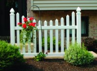 4' Vinyl Scalloped Picket Fence