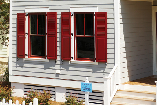 Louver Panel Combination Shutters Exterior Functional