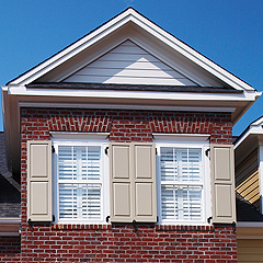 Example of Wood Composite Shutters with Window