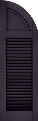 Atlantic Louver / Panel Combination Shutters - Standard w/ Faux Tilt Rod