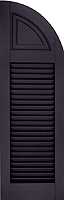 Functional shutters with overlapping rabbeted edges