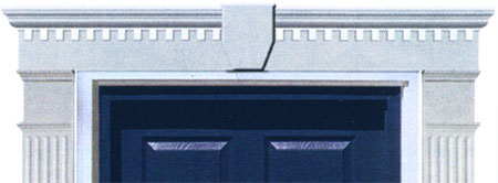 Classic Dentil Vinyl Door Header
