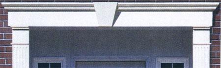 Flat Panel Vinyl Door Header