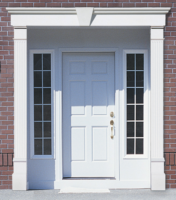Vinyl door surrounds vinyl door trim vinyl door molding for Interior window crossheads
