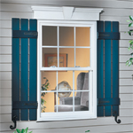 Vinyl Window Header and Vinyl Shutters