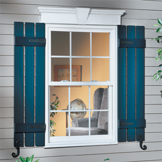 Vinyl Window Header and Vinyl Shutters & Vinyl Exterior Accents Photo Gallery :: Accent Building Products