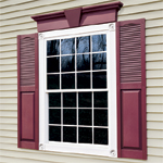 Vinyl Shutters and Window Headers
