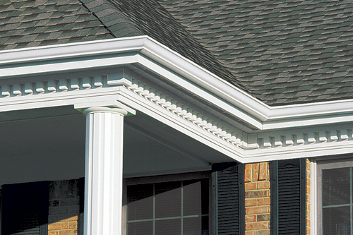 Vinyl exterior accents photo gallery accent building for Fypon dentil molding