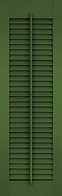 Open Louvered Shutters - Standard with Faux Tilt Rod