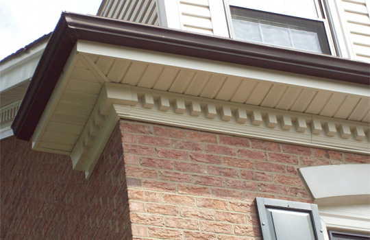 Vinyl exterior molding accent building products for Exterior decorative trim for homes