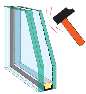 impact skylight glass