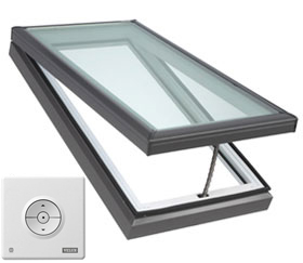 velux electric venting curb mounted skylight vce model accent building products. Black Bedroom Furniture Sets. Home Design Ideas